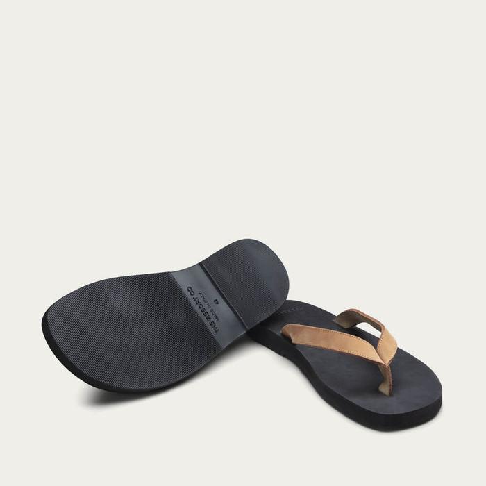 Cuoio Black Nubuck Leather Flip-Flops | Bombinate
