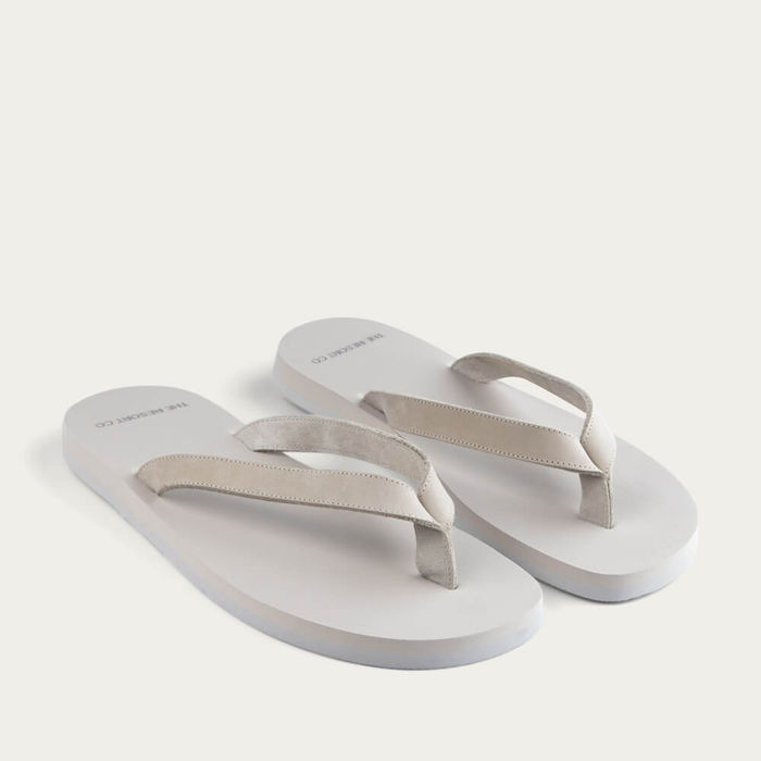 Sand Nubuck Leather Flip-Flops | Bombinate