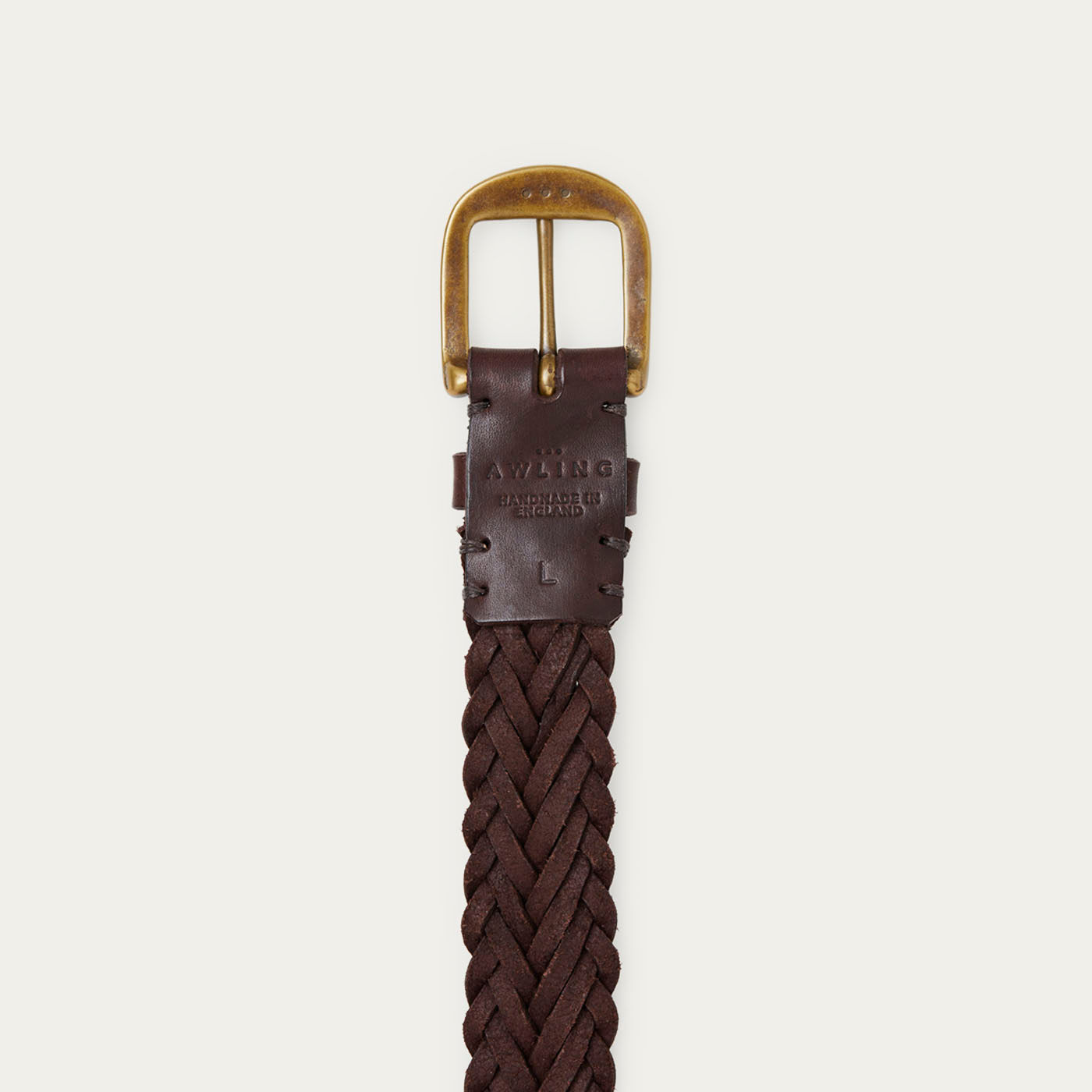 Walnut Brown/Brass Braided Belt  | Bombinate