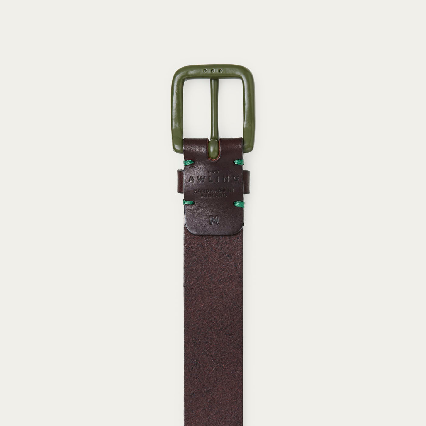 Walnut Brown/Olive Modernist Belt  1