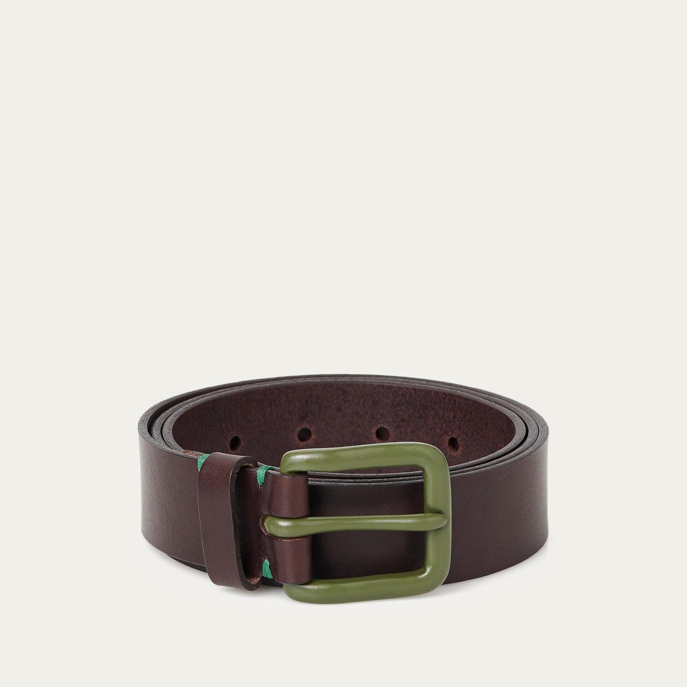 Walnut Brown/Olive Modernist Belt  0