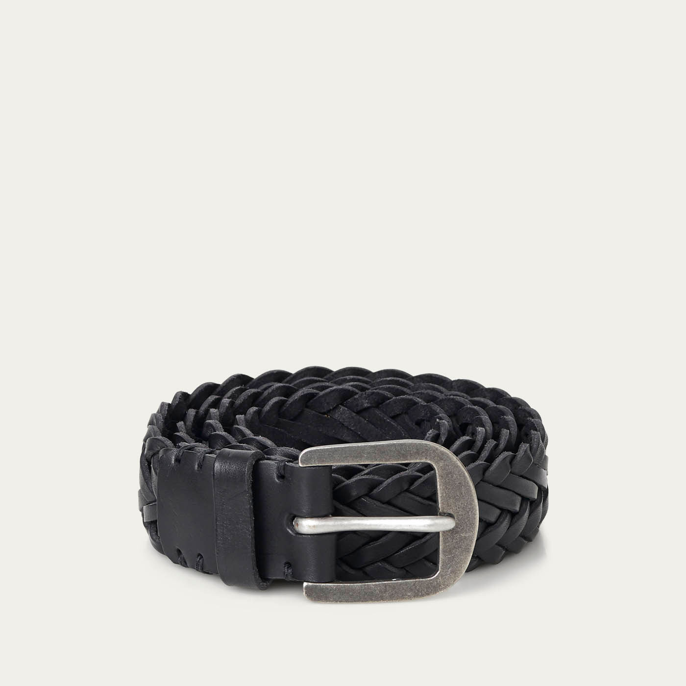 Pitch Black/Pewter Braided Belt  | Bombinate