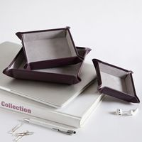 African Violet Leather Valet Tray Gift Set | Bombinate