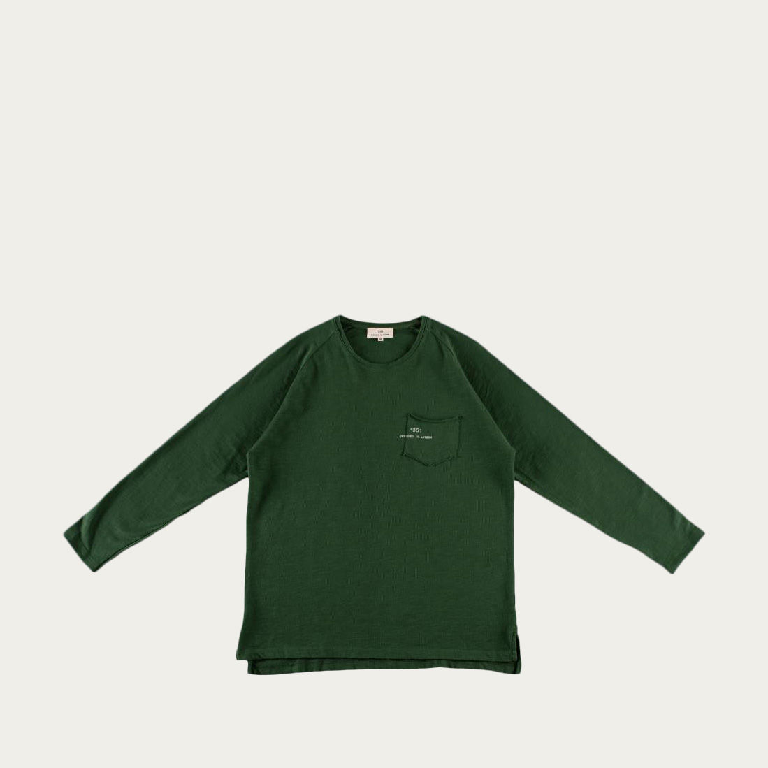 Green Fade Out Essential Long Sleeve Tee-shirt | Bombinate