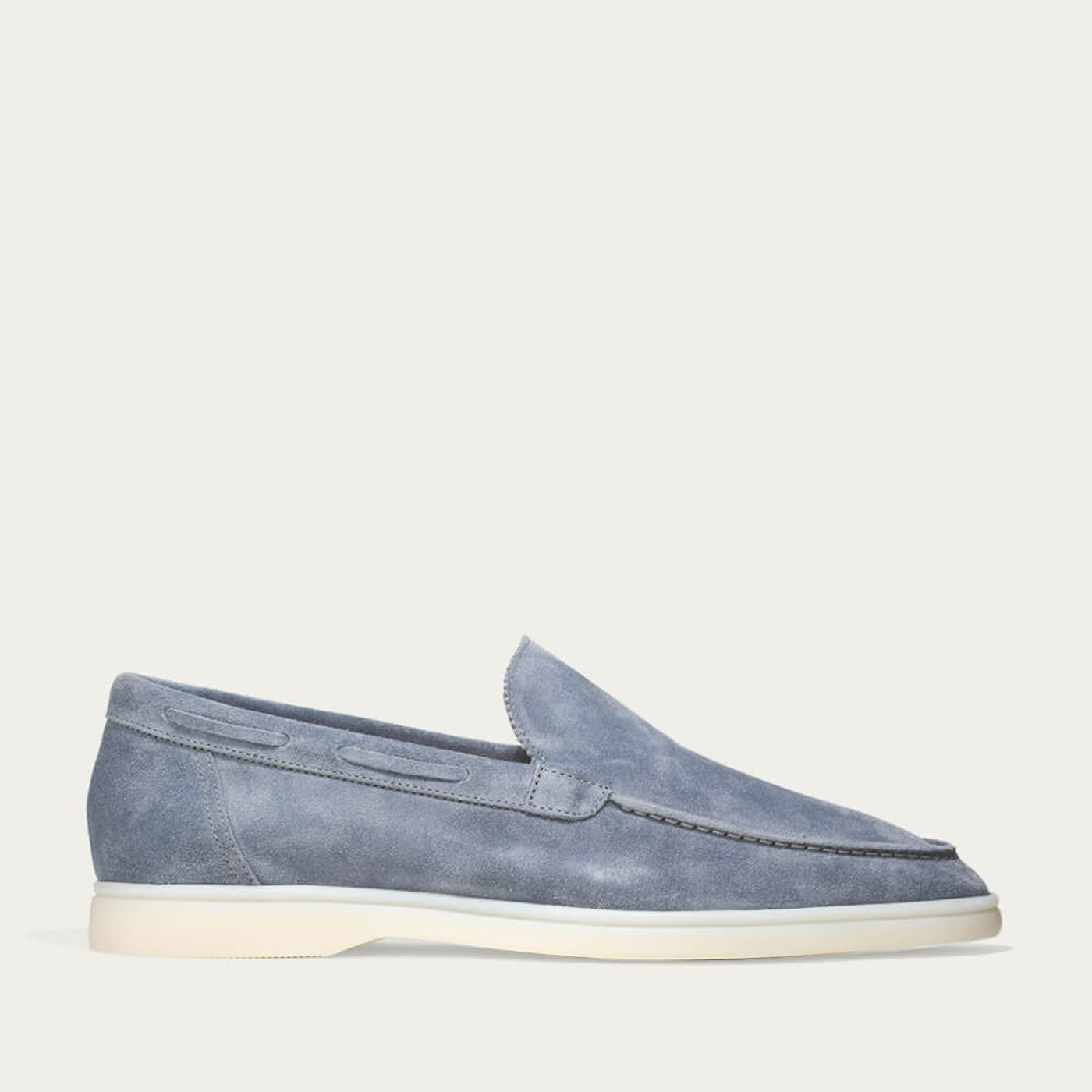 Light Blue Suede Yacht Loafer   Bombinate