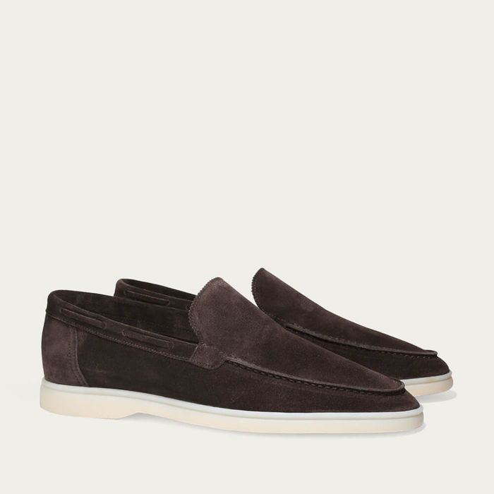 Warm Grey Suede Yacht Loafer | Bombinate