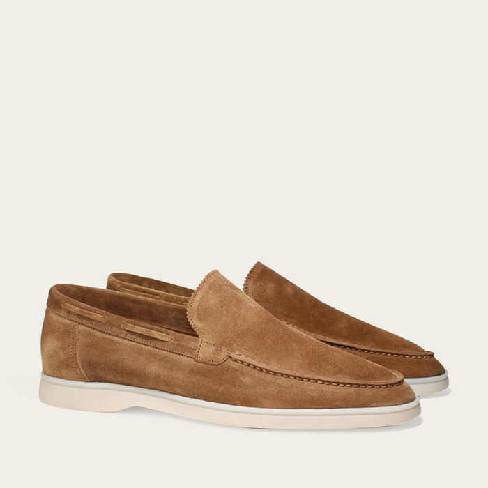 Beige Suede Yacht Loafer | Bombinate