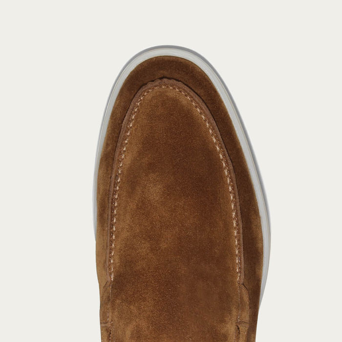 Caramel Suede Yacht Loafer | Bombinate