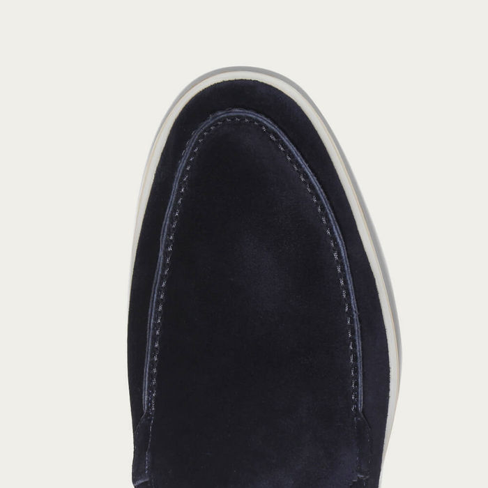 Navy Suede Yacht Loafer   Bombinate