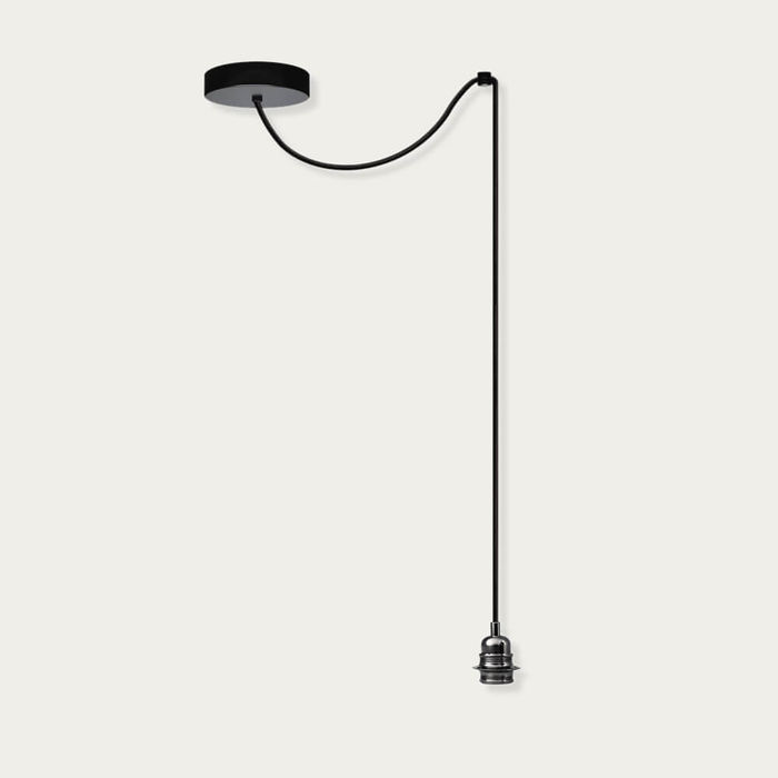 Black Chrome Iko 1-Pendant Light | Bombinate