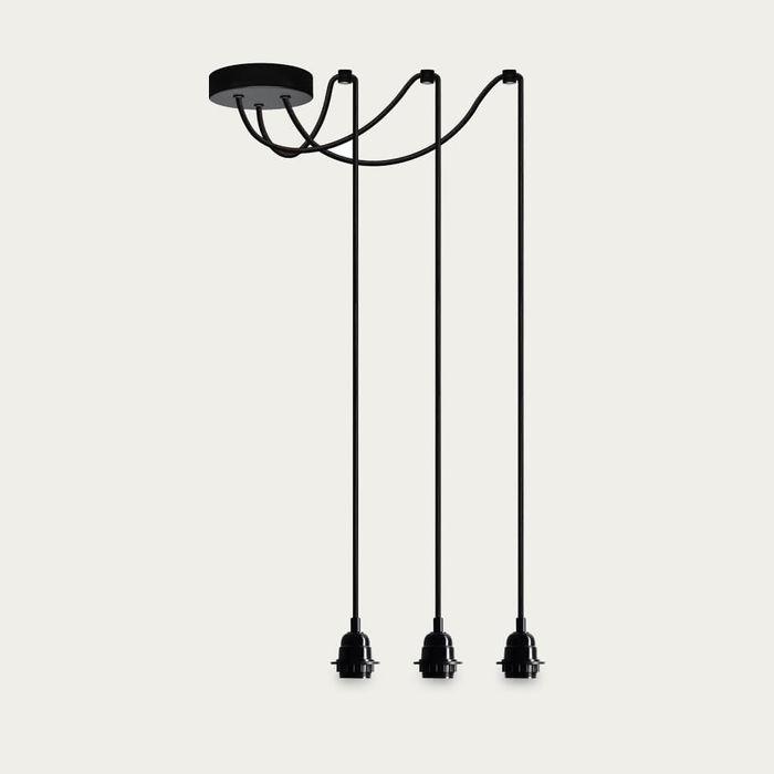 Black Teku 3-Pendant Light | Bombinate
