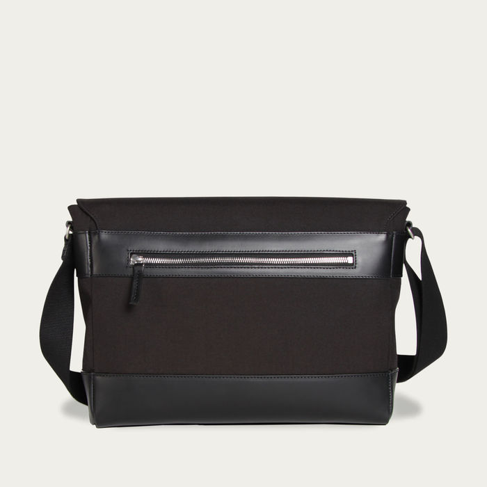 Black Cordura / Black Leather Belleville Messenger Bag    Bombinate