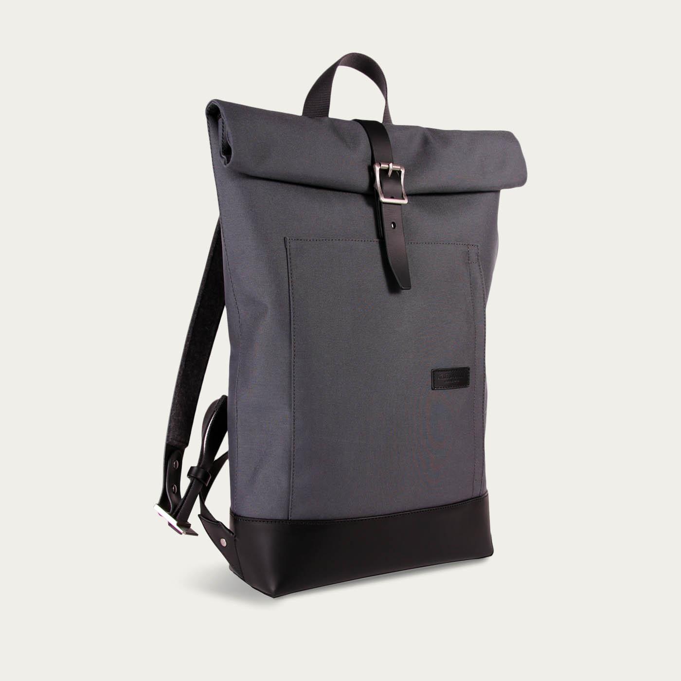 4db18c709e Ateliers Auguste | Navy Cordura / Black Leather Belleville Messenger Bag |  Bombinate