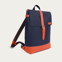 Blue Cordura / Tan Leather Menilmontant Backpack   | Bombinate