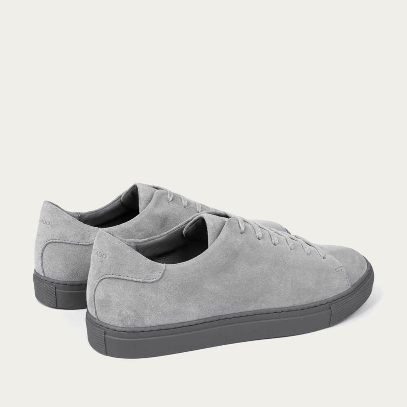 Gray Umberto Suede Sneakers   Bombinate