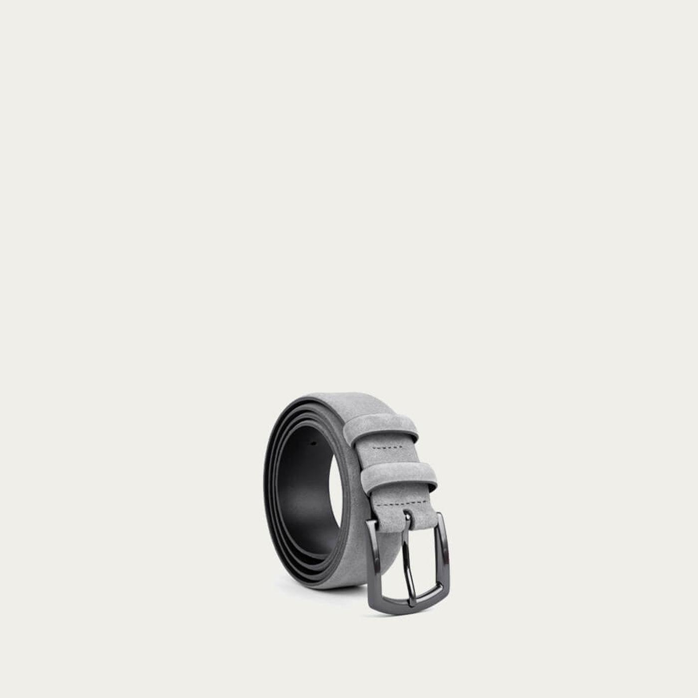 Gray Umberto Handmade Leather Belt | Bombinate