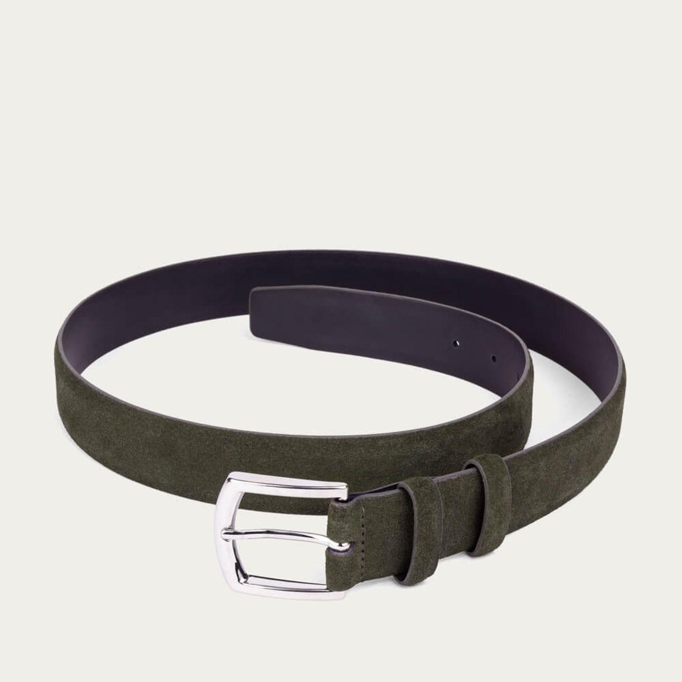 Green Giuseppe Handmade Leather Belt | Bombinate