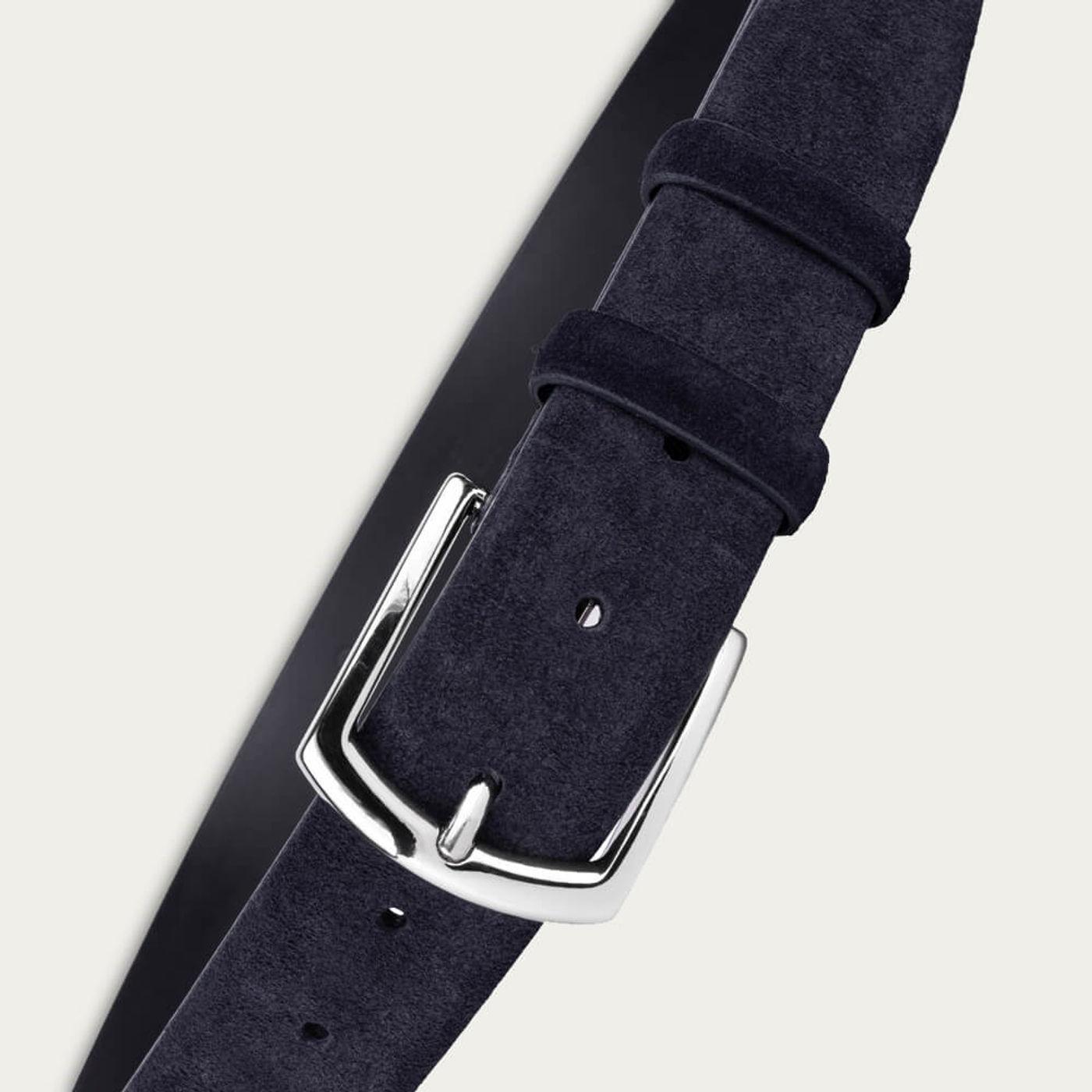 Blue Alfredo Handmade Leather Belt | Bombinate