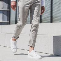 White Pierre Pebble Leather Sneaker | Bombinate