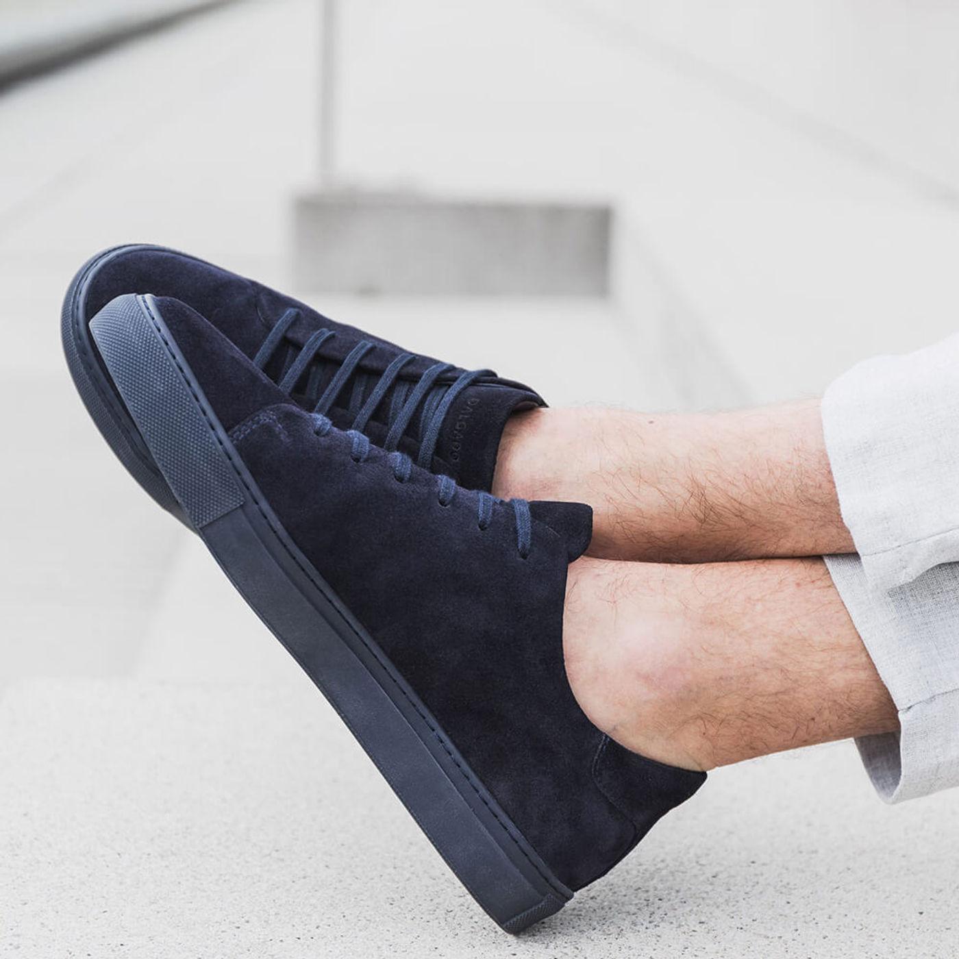 Blue Alfredo Suede Sneakers   Bombinate