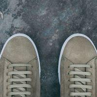 Olive Split Suede Low 1 Sneakers  | Bombinate