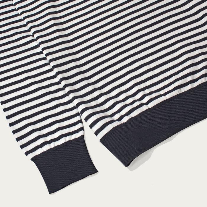 Navy Blue/White Jimmy Breton Stripe Polo   Bombinate