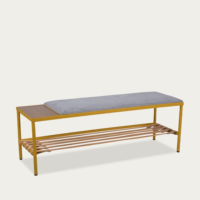Gray/Yellow BDC Bench | Bombinate