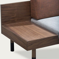 Gray/Walnut Loveseat Mid Sofa | Bombinate