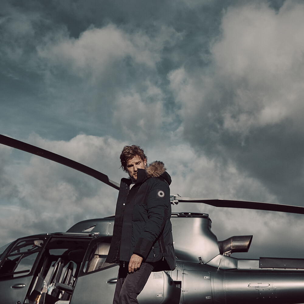 Black Pilot Down Jacket | Bombinate