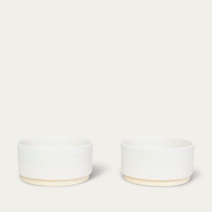 Medium Otto Bowls White - Set of two | Bombinate