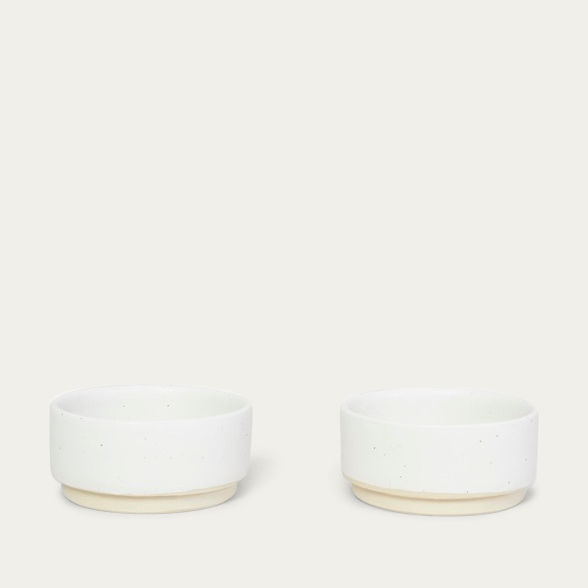 Small Otto Bowls White - Set of two | Bombinate