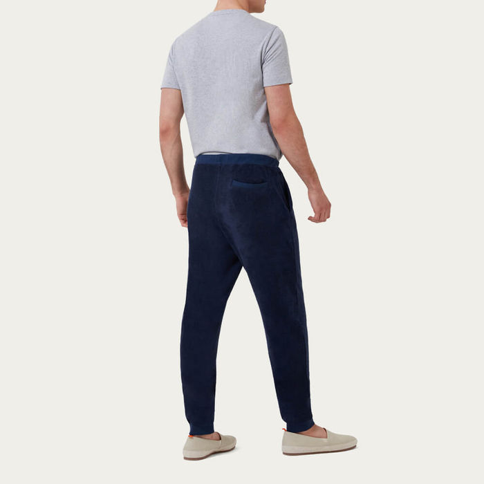 Navy Terry Track Trouser  | Bombinate