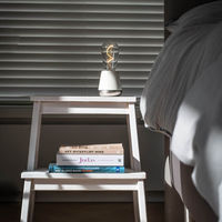 Off-White Satin Nickel ONE Table Light | Bombinate