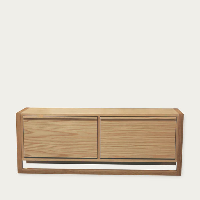 Oak NewEst Shoe Bench 2 Door | Bombinate