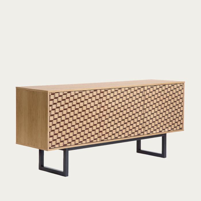 Oak Cube Print Camden Sideboard | Bombinate