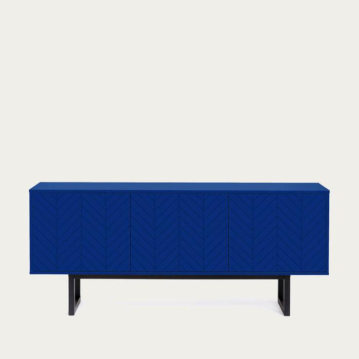 Blue Herringbone Print Camden Sideboard | Bombinate