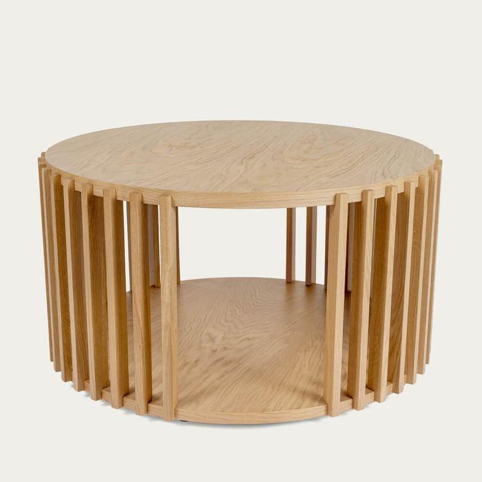 Oak Drum Coffee Table   Bombinate