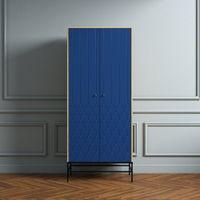 Dark Blue Lia Wardrobe Two Doors | Bombinate