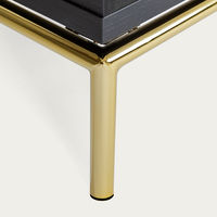 Dark Wood/Brass Pimlico Sideboard | Bombinate