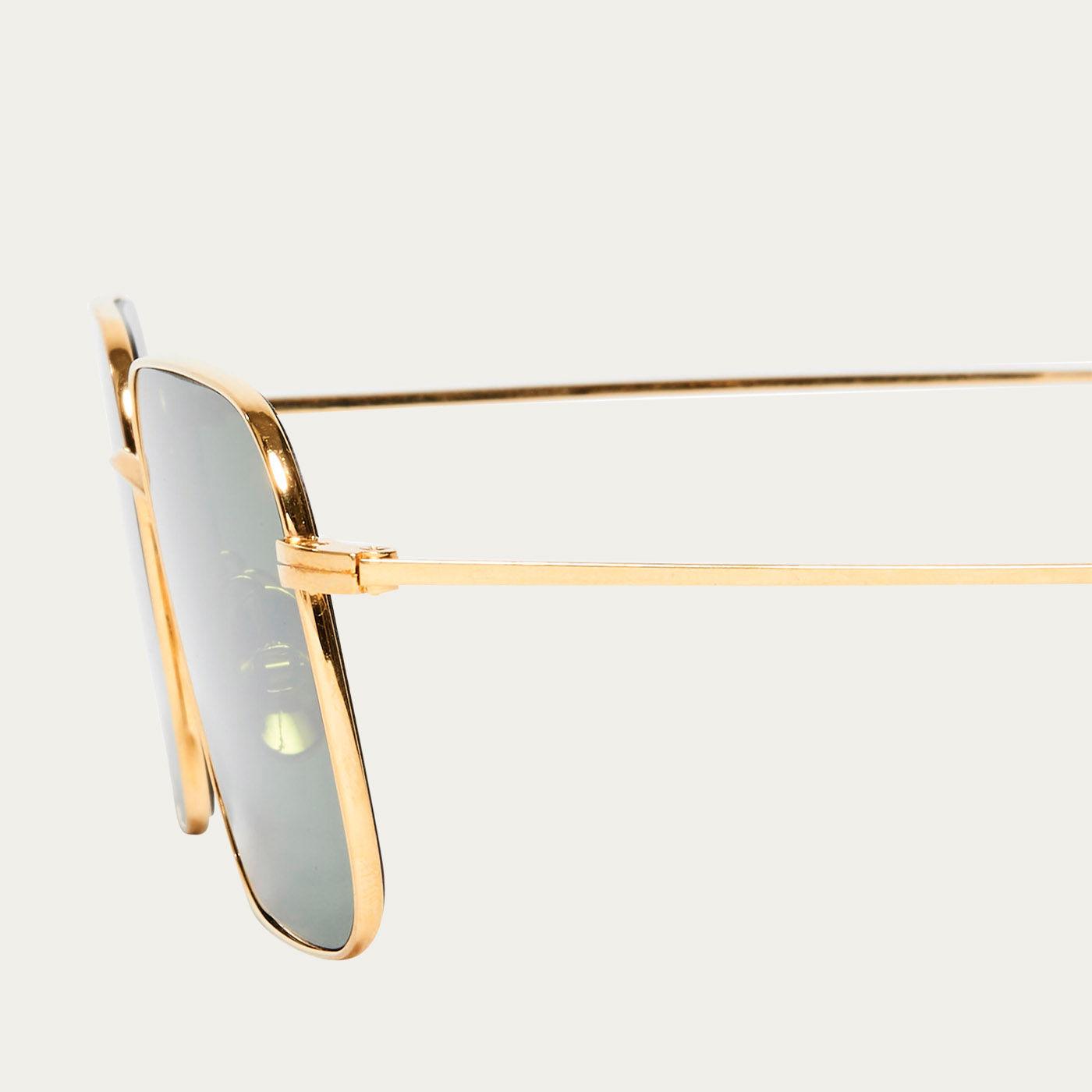Gold / Bottle Green Flare Sunglasses | Bombinate