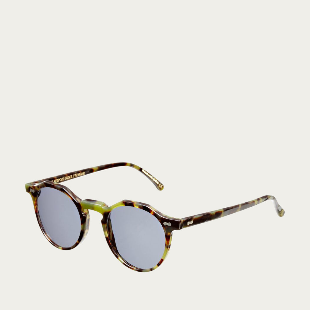 Green Tortoise / Gradient Grey Lapel Sunglasses | Bombinate