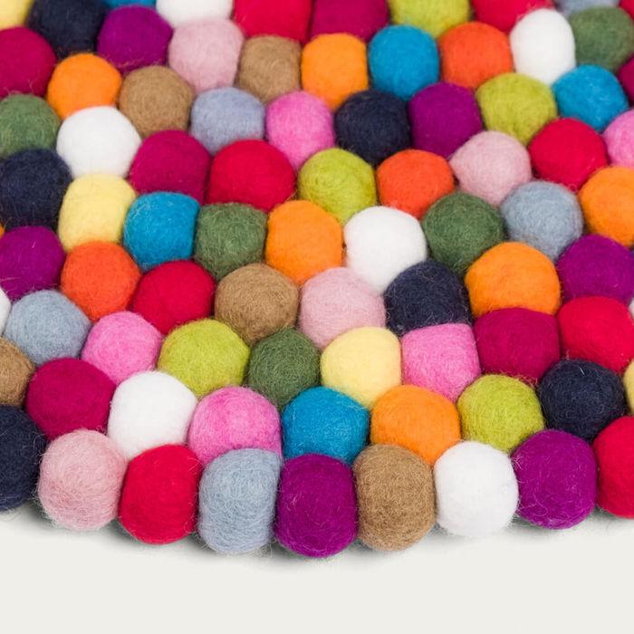 Felt Ball Rug Lotte Round | Bombinate