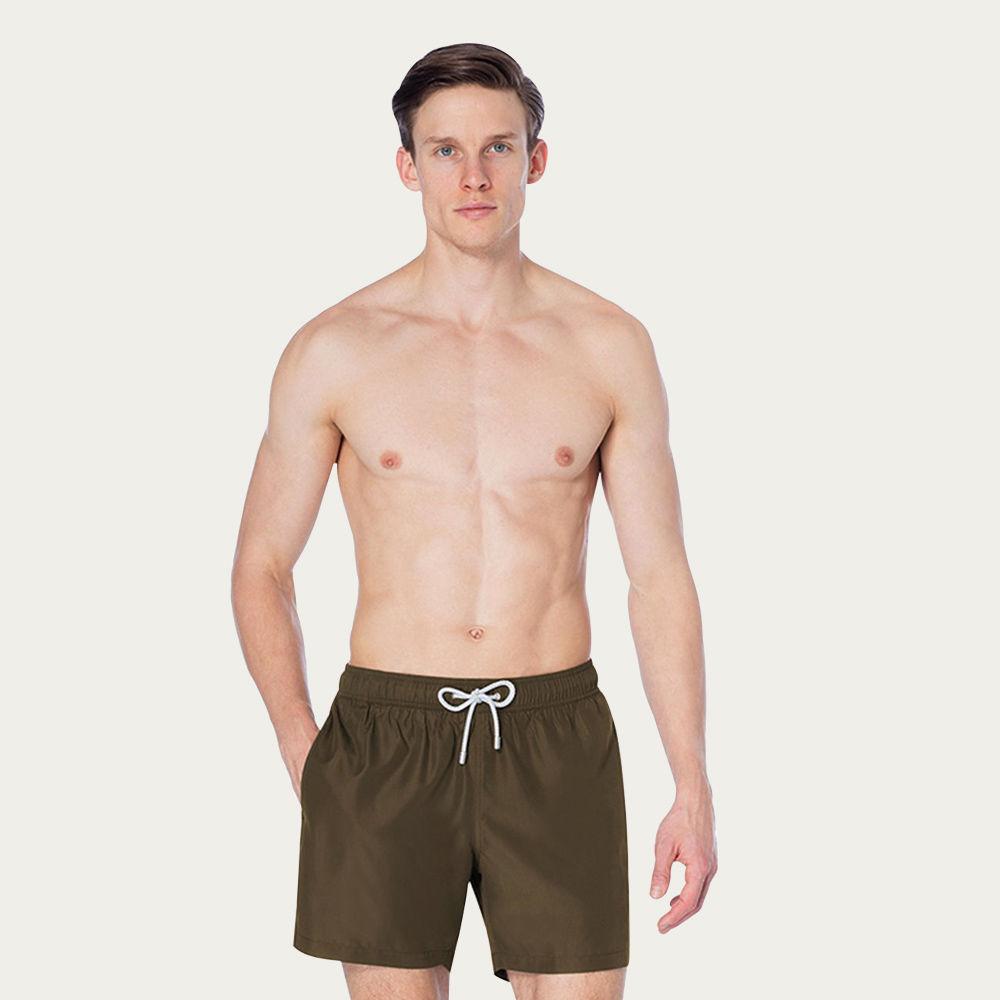 Military Green Logan Swim Short   Bombinate