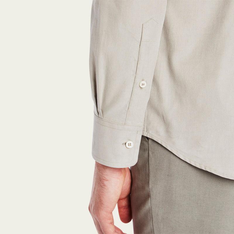 Mushroom Cord Plain Collar Shirt 5