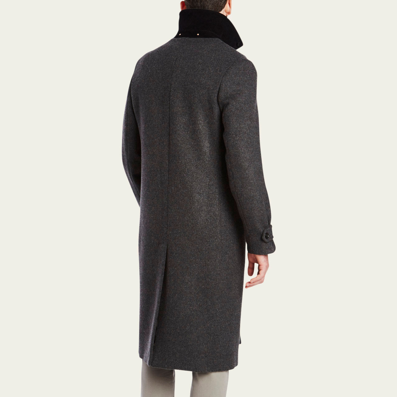 Charcoal Cashmere Topcoat  | Bombinate