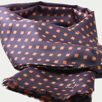 Black Squares Silk Scarf | Bombinate