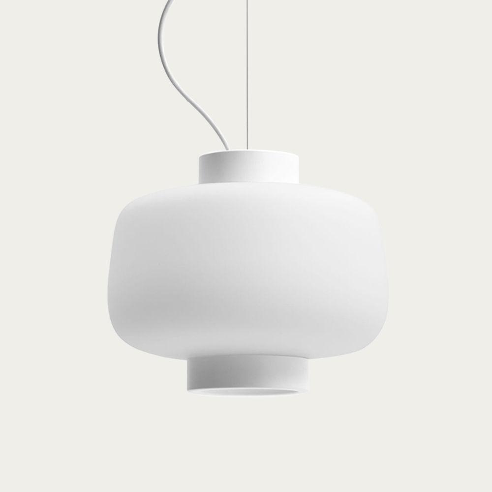 Matte Ivory Dusk Lamp Large | Bombinate
