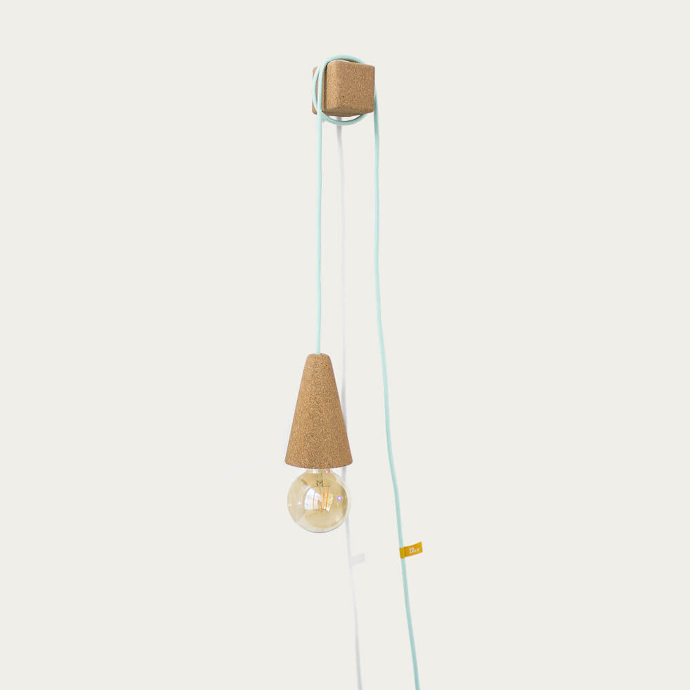 Green Mint Sino Pose Desk/Wall Lamp with Bulb | Bombinate