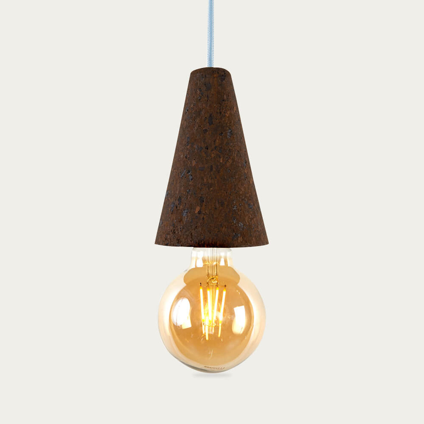 Expanded Cork and Blue Cable Sino #1 Pendant Lamp | Bombinate