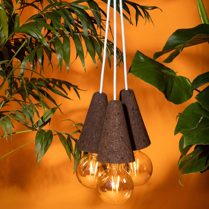 Expanded Cork and Blue Cable Sino #3 Pendant Lamp | Bombinate